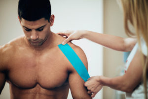 Kinesio tape for athletic injury